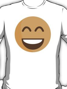 Smiling Face With Open Mouth And Smiling Eyes EmojiOne Emoji T-Shirt