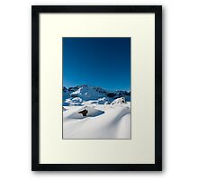 Mountain scenery at Melchseefrut Framed Print