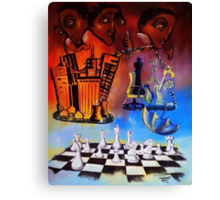Checkmate! The Imbalance of Resources Canvas Print