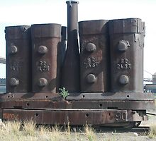 Steel Ingot Moulds - BHP Site, Newcastle NSW by Phil Woodman