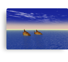 Two Fish in the Sea Canvas Print