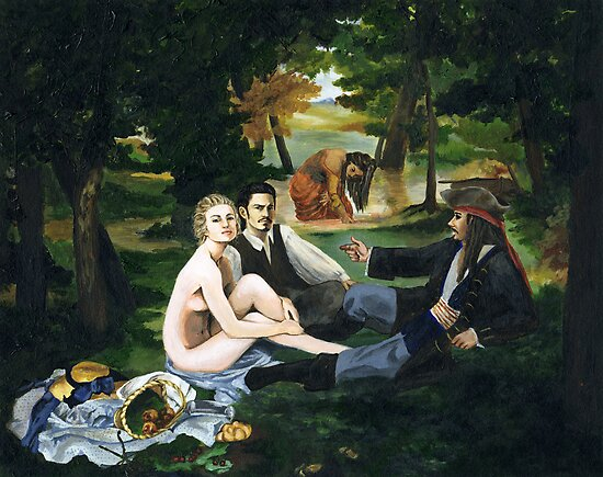 Pirate Luncheon in the Grass by Lena Shaw