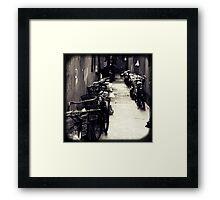 OLD SHANGHAI - Bike Lane Framed Print