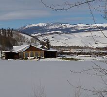 Snowy farm in Summit County by Jeanne Frasse