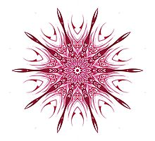 Red Pattern Kaleidoscope Photographic Print