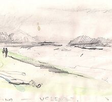 TWO ON THE BEACH -TOFINO - UCLELET- BC(C1992) by Paul Romanowski