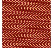 Harry Pattern - Gryffindor Photographic Print