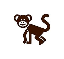 Comic chimpanzee Photographic Print