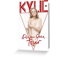Kylie - Kiss Me Once Tour (Red) Greeting Card