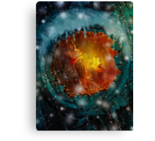 By the Light of Fireflies Canvas Print
