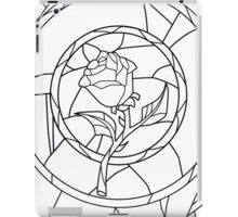 Stained Glass Rose White iPad Case/Skin