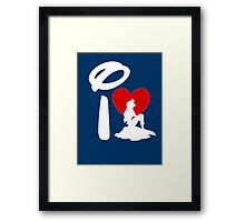 I Heart Little Mermaid (Inverted) Framed Print