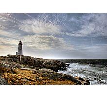 Peggy's Cove Lighthouse, Nova Scotia Photographic Print
