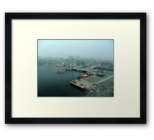 No Fishing Today Framed Print