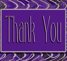 Thank You purple by Donna Grayson