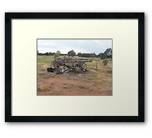 Yesteryear Wagon Framed Print