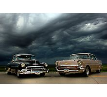 '54 Chevy Deluxe & '57 Bel Air Custom Photographic Print