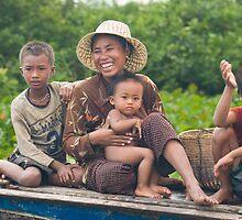 Family on Boat by Adrianne Yzerman