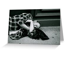 on the street  Greeting Card