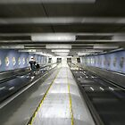 Stockholm subway escalator by PeterBusser