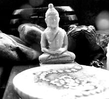 Buddha learns about rain from a frog by Paul Todd
