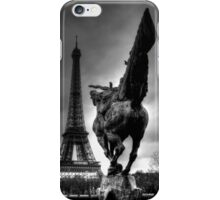 Sculpture And The Eiffel Tower  iPhone Case/Skin