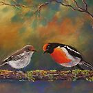 'Red Capped Robins' by Helen Miles