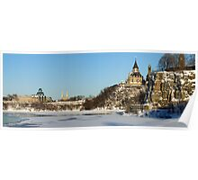 Winter's View of Parliament from the Ottawa River Poster