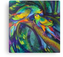Birdbathing Canvas Print