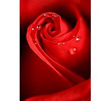 Red Swirl Photographic Print