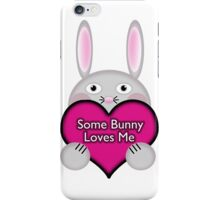 Cute Some Bunny Loves Me Heart iPhone Case/Skin