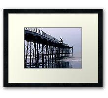 Rainy Day On The Pier - Saltburn - Cleveland Framed Print