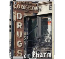 Drugstore in the West Village - Kodachrome Postcards iPad Case/Skin