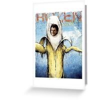 Frozen Banana Greeting Card