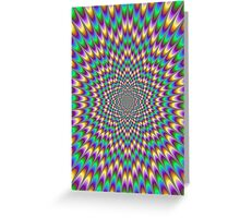 Trippy optical illusion. Look carefully ;) Greeting Card