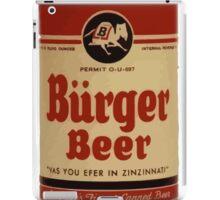 Vintage Burguer beer can. iPad Case/Skin