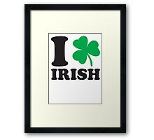 St. Patrick's day: I love Irish Framed Print