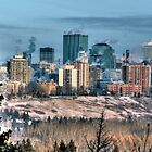 Edmonton on a cold December day by John Fletcher