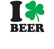 St. Patrick's day: I love Beer Photographic Print