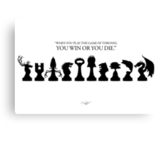 Win or Die - Game of Thrones Canvas Print