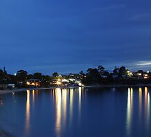 Opossum Bay at Night by Oliver Young