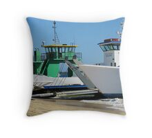 Barges Inskip Point Throw Pillow