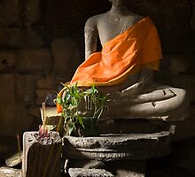 Buddha in Angkor Thom by Adrianne Yzerman