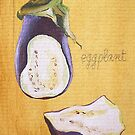 ACEO aubergine by cathy savels