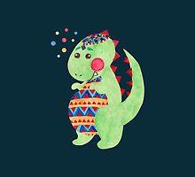 Green Dino by haidishabrina