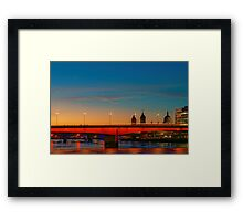 London At Twilight, England Framed Print