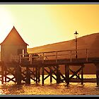 Sunset on the jetty by TedVanderloo