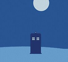 Tardis Minimalistic Oil Paint - Doctor Who Ispired by markomellark