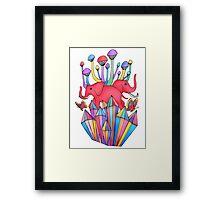 Pink Elephants Framed Print