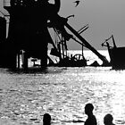 Sunset Bathers by Greg Halliday